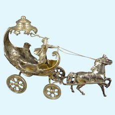 Miniature Sterling Chariot Horse and Rider