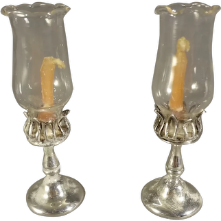 Pair Miniature Sterling William Meyers Candlesticks