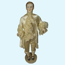 """8"""" Bisque Doll House Man in Marquis Costume"""