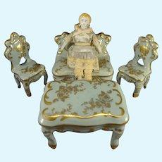 "3 3/4"" Blonde Hair China Doll House Doll"