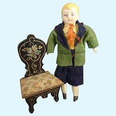 "4 3/4"" Charming Doll House School Boy in Original Costume"