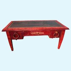 Miniature Leather Tooled Desk Apprentice Piece