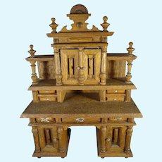 Wonderful German Oak Miniature Desk