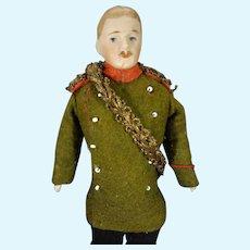"""6 3/4"""" Bisque Gentleman in Original Uniform"""