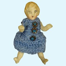 Tiny All Bisque Doll with Jointed Limbs
