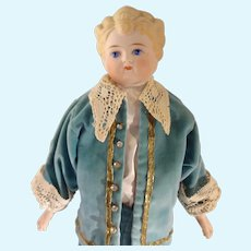 "17"" Parian Boy with Blonde Sculpted Hair"