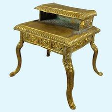 Miniature Ormolu Desk with Cabriole Legs
