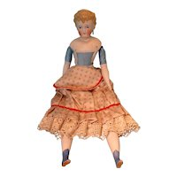 """17"""" Beautiful Parian Doll with Blonde Sculpted Hair"""