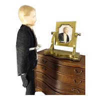 """7 1/2"""" Doll House Man with Moustache"""