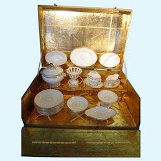 Doll's Porcelain Dinner Service in Original Box