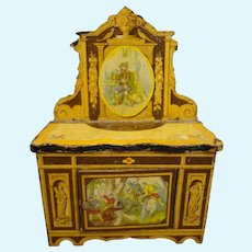 Doll House Cabinet with Lithographic Scenes