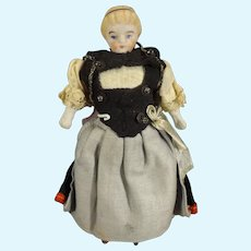 """4 3/4"""" Bisque Doll House Doll with Head Band"""