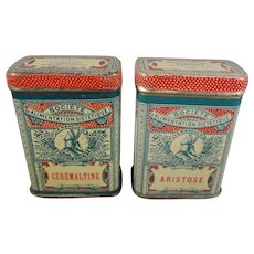 Pair of French Miniature Tins