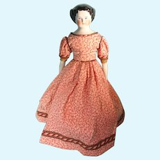"""12"""" Flat Top China in Red Calico Dress"""