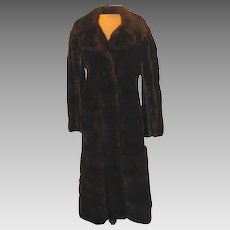 Vintage Black Ebony Natural Mink Coat