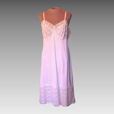 Vintage White Vanity Fair Slip with Gorgeous Lace