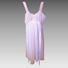 Vintage Seafoam Green Van Raalte Short Nightgown