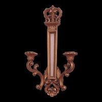 Vintage Syroco Candelabra Sconce