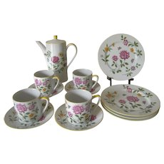 Vintage Schmidt Design Folio Tea/Coffee Set with Flowers