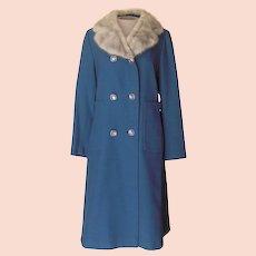 Vintage Holly Poplin Blue Coat