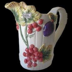 Vintage Handpainted Ceramic Fruit Pitcher