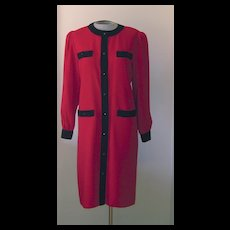 Vintage Red and Black Lilli Ann Dress