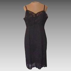 Vintage Black Van Raalte Slip with 6 to 9 inch Lace