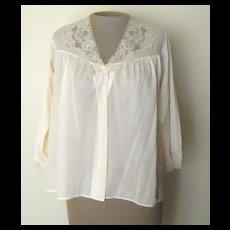 Vintage Pale Peach Van Raalte Bed Jacket with Pretty LAce