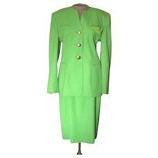 Vintage Escada Lime Green Suit