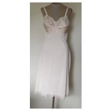 Vintage Gossard Artemis Light  Peach Full Slip with Pretty Lace