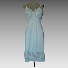 Vintage Light Green Vanity Fair Slip with 6 1/2 Inch Lace