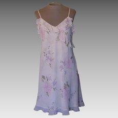 Valerie Stevens Short Pastel Flowered Nightgown Made in Hong Kong 98511c427