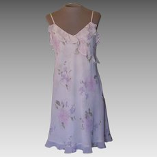 Valerie Stevens Short Pastel Flowered Nightgown Made in Hong Kong