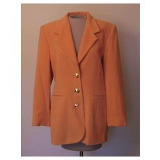 Vintage Burnt Orange Escada Blazer by Margaretha Ley that is 25 % Cashmere