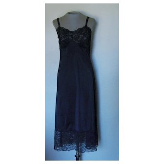 Black Slip with Gorgeous with 7 inch Lace along the Bottom and Lace Bust