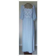 Miss Elliette Vintage Light Blue Dress with Lace