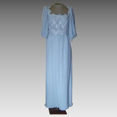 Miss Elliette Vintage Light Blue Dress with Lace