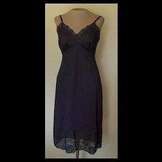 Vintage Navy Blue VanRaalte Slip with Pretty Lace