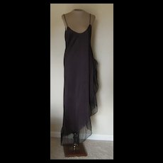 Vintage Black Lady Cameo Nightgown with Wide Black Flounce