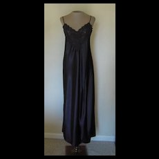 Black Victoria Secret Long Nightgown with Lace