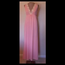 Vintage Peach Nightgown with Lace