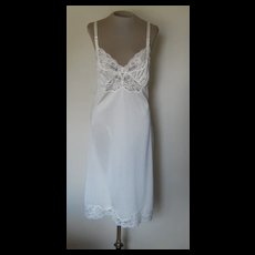 Vintage Off-White Shadowlane Slip with Lace