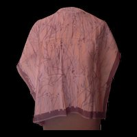 Vera Light Pink and Gray Scarf with the Lady Bug Signature