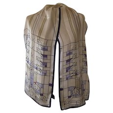 Frank Lloyd Wright Silk Scarf from Museum of Modern Art