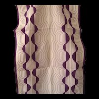 Vintage Vera Long Scarf with Cream and Purple
