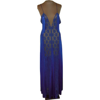 Vintage Royal Blue Val Mode with Lace