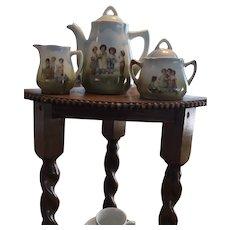 Antique German China Childrens' Tea set circa 1910