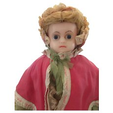 """1870 to 1880's  20 ½"""" Wax  Doll"""