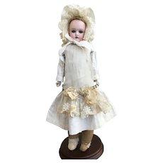 "1880-1890s German Bisque Head Doll 15"""