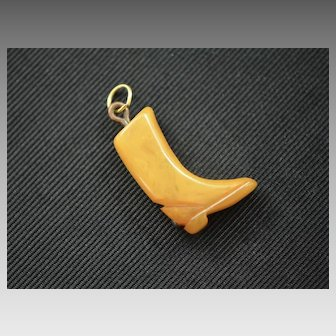 Victorian Amber Boot Fob, Charm